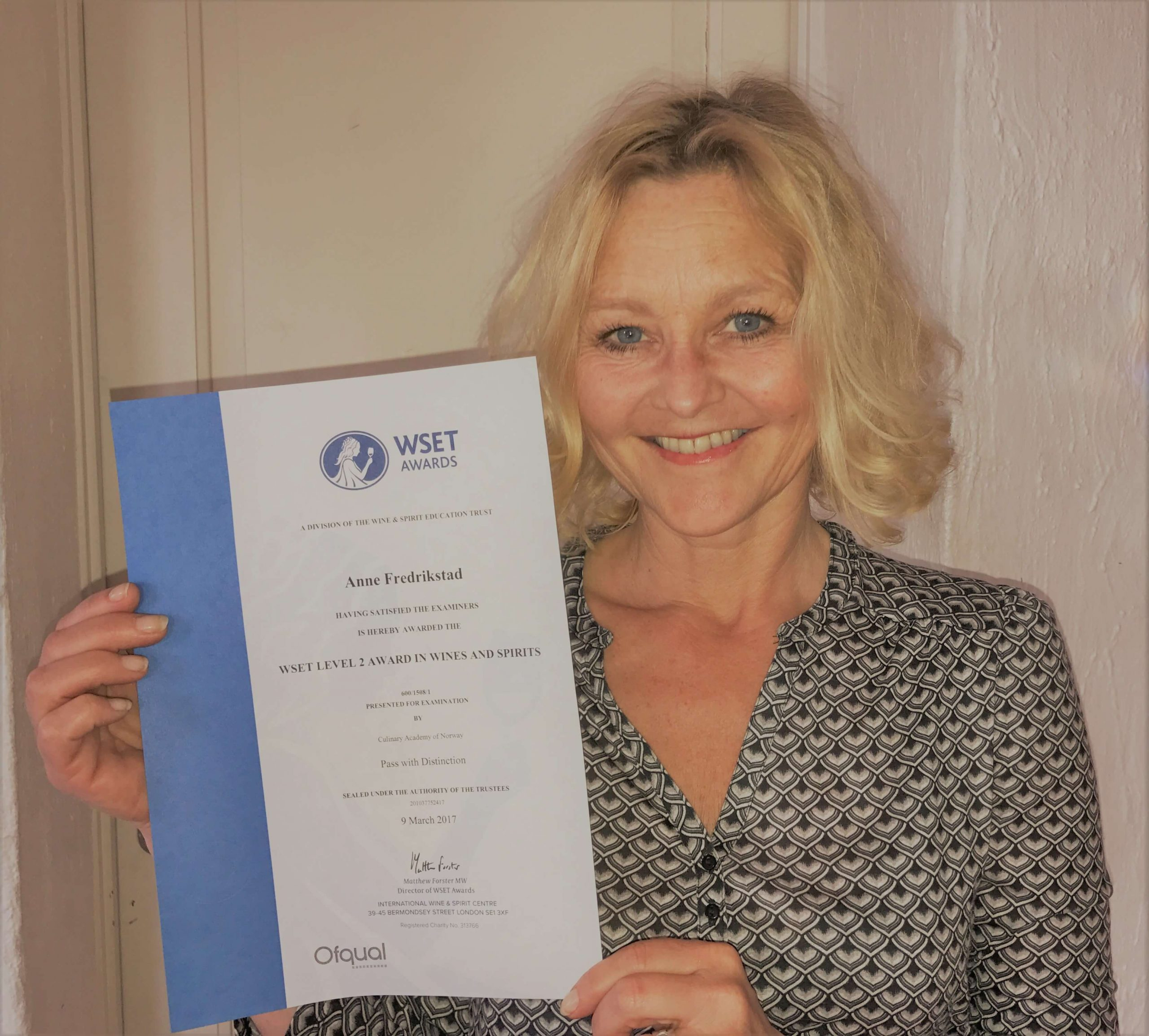 Happy to get a wine diploma – the joy of being a winestudent
