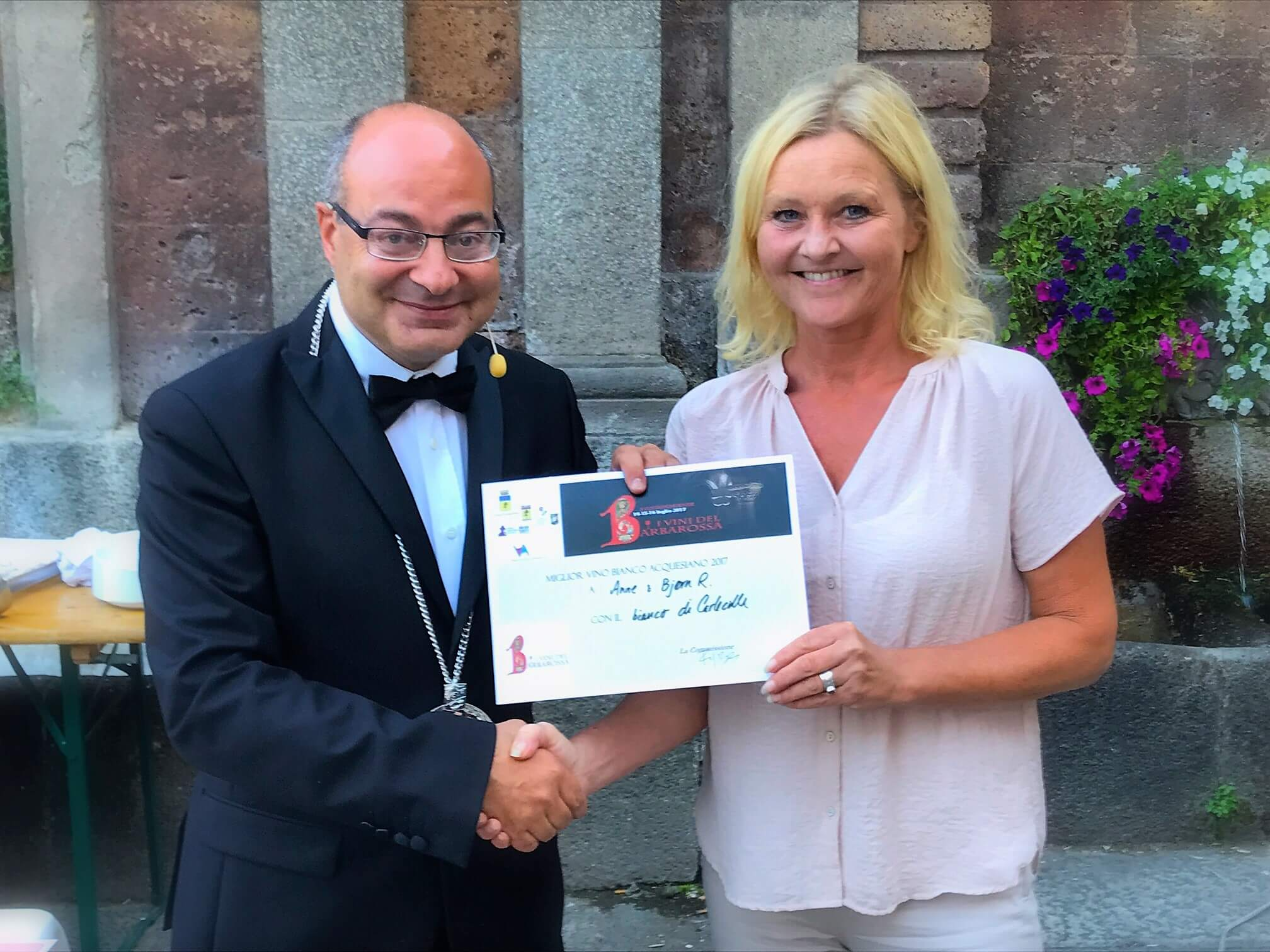 Hurray – we won in the local wine competition