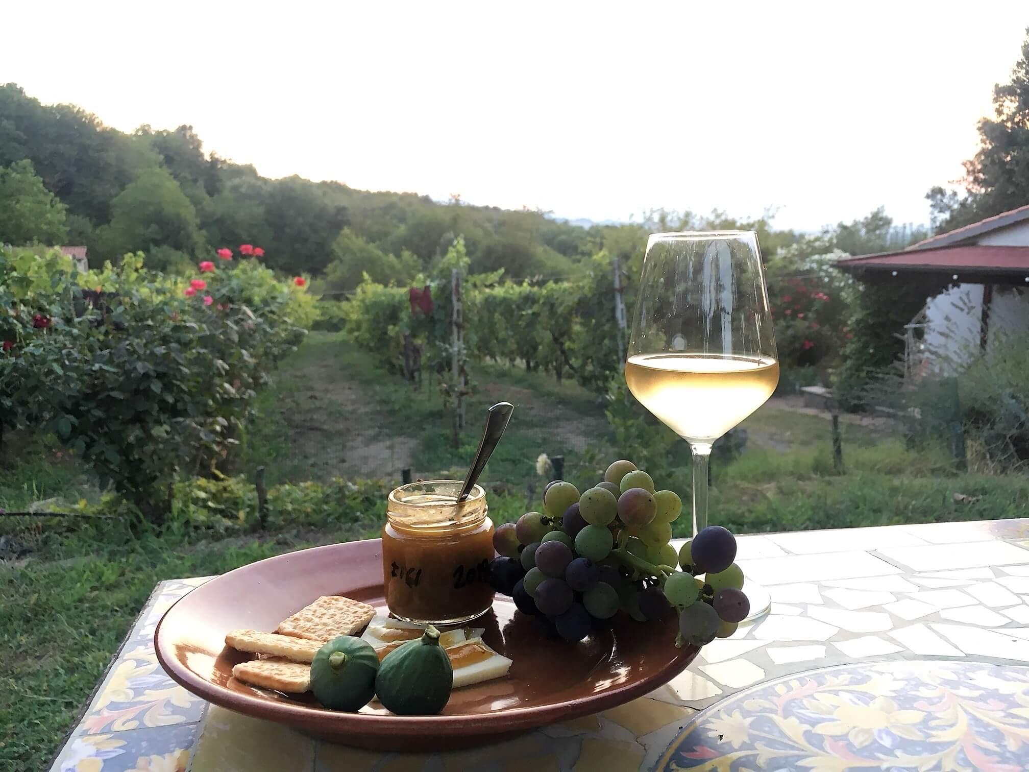 Fiken, ost og vin