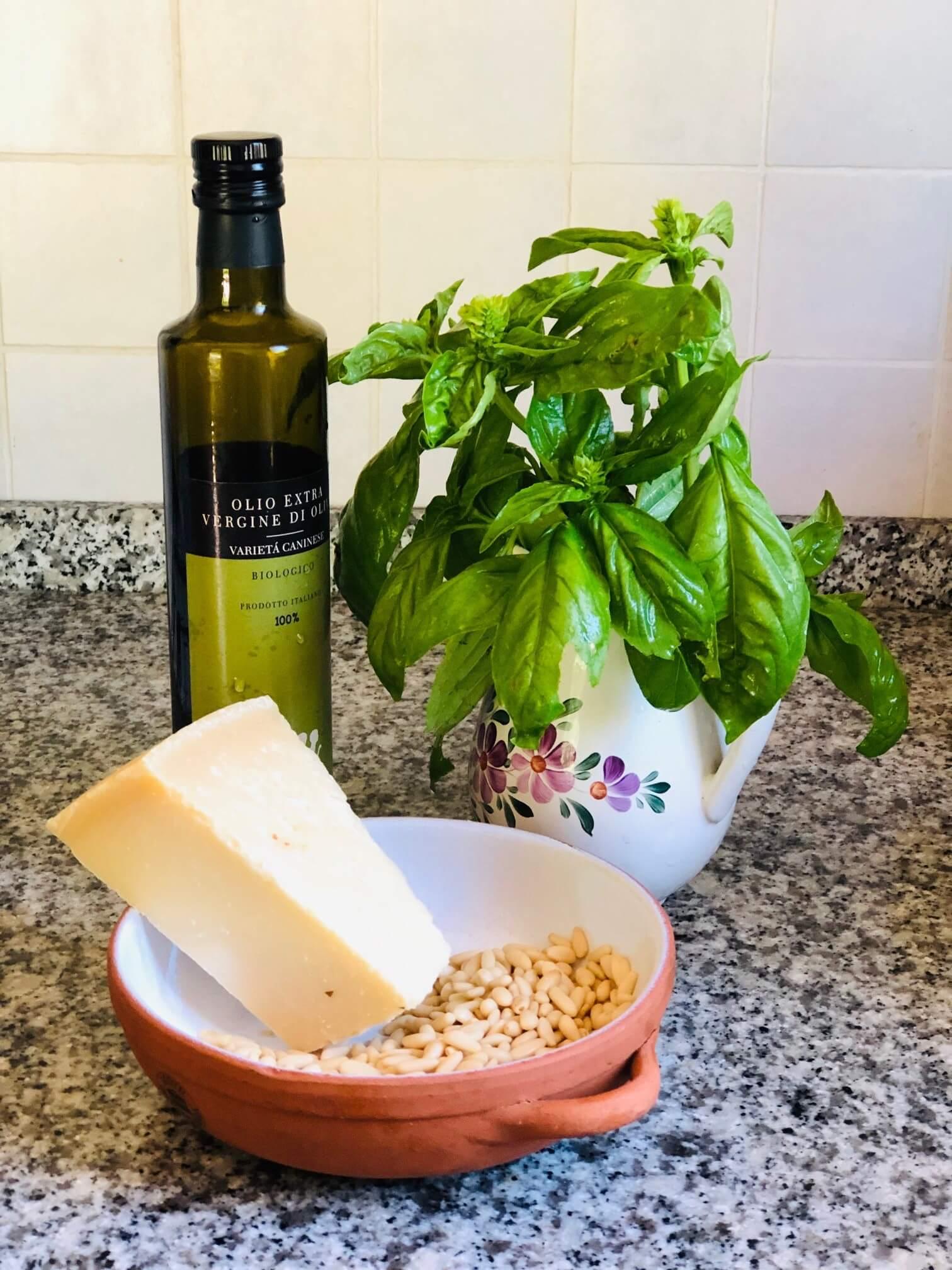 Har du basilikumplanter som har vokst seg store i løpet av sommeren som du ikke får brukt opp? Om du ikke har laget det før, gled deg! Her kommer en oppskrift på pesto og forslag til passende viner.