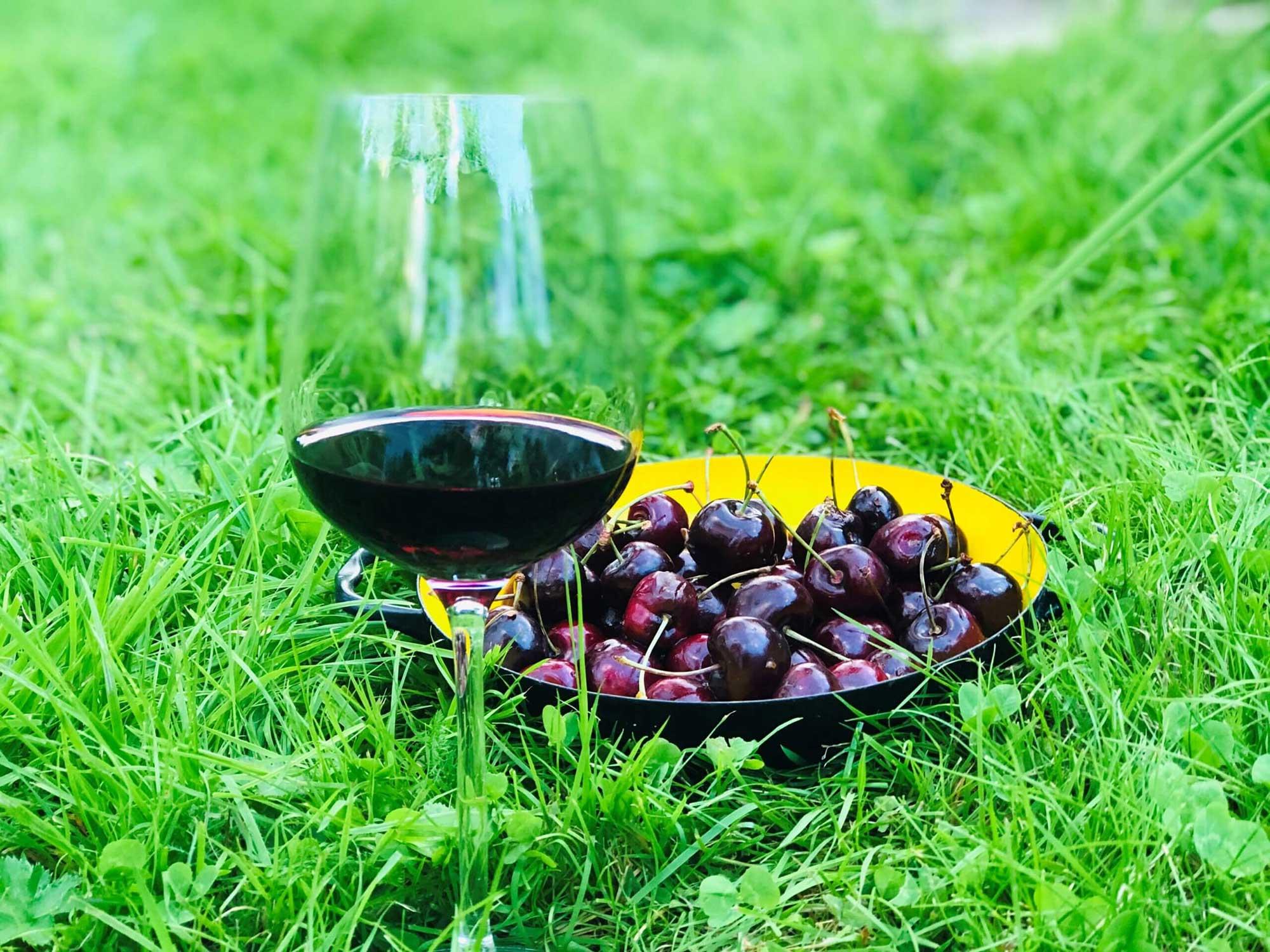 Aroma av bær i vin – kirsebær og moreller